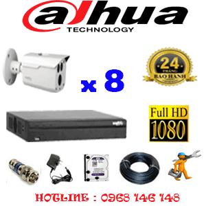 Lắp Đặt Trọn Bộ 8 Camera Dahua 2.0Mp (Dah-282000)-DAH-282000