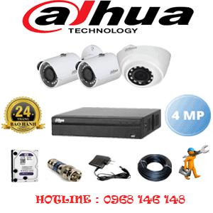 Lắp Đặt Trọn Bộ 3 Camera Dahua 4.0Mp (Dah-4123224)-DAH-4123224