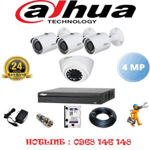 Lắp Đặt Trọn Bộ 4 Camera Dahua 4.0Mp (Dah-4123324)-DAH-4123324
