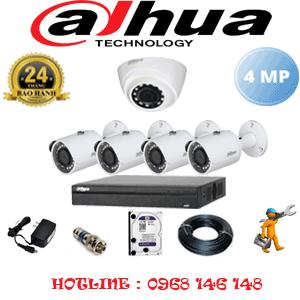 Lắp Đặt Trọn Bộ 5 Camera Dahua 4.0Mp (Dah-4123424)-DAH-4123424