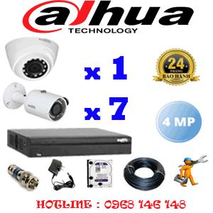 Lắp Đặt Trọn Bộ 8 Camera Dahua 4.0Mp (Dah-4123724)-DAH-4123724