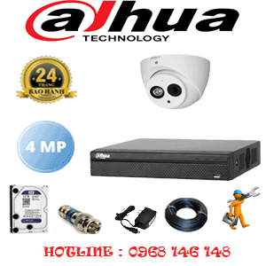 Lắp Đặt Trọn Bộ 1 Camera Dahua 4.0Mp (Dah-412500)-DAH-412500