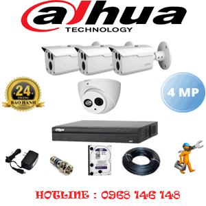 Lắp Đặt Trọn Bộ 4 Camera Dahua 4.0Mp (Dah-4125326)-DAH-4125326