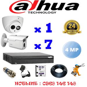 Lắp Đặt Trọn Bộ 8 Camera Dahua 4.0Mp (Dah-4125726)-DAH-4125726