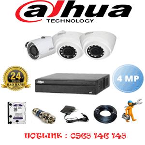 Lắp Đặt Trọn Bộ 3 Camera Dahua 4.0Mp (Dah-4223124)-DAH-4223124