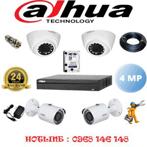 Lắp Đặt Trọn Bộ 4 Camera Dahua 4.0Mp (Dah-4223224)-DAH-4223224