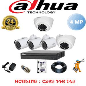 Lắp Đặt Trọn Bộ 5 Camera Dahua 4.0Mp (Dah-4223324)-DAH-4223324