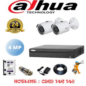 Lắp Đặt Trọn Bộ 2 Camera Dahua 4.0Mp (Dah-422400)-DAH-422400