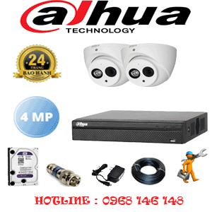 Lắp Đặt Trọn Bộ 2 Camera Dahua 4.0Mp (Dah-422500)-DAH-422500