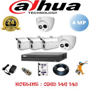 Lắp Đặt Trọn Bộ 5 Camera Dahua 4.0Mp (Dah-4225326)-DAH-4225326