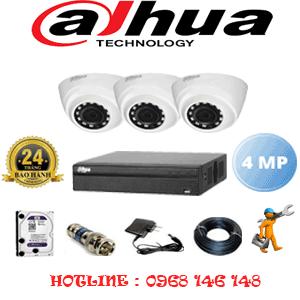 Lắp Đặt Trọn Bộ 3 Camera Dahua 4.0Mp (Dah-432300)-DAH-432300