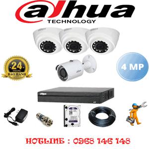 Lắp Đặt Trọn Bộ 4 Camera Dahua 4.0Mp (Dah-4323124)-DAH-4323124