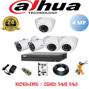 Lắp Đặt Trọn Bộ 5 Camera Dahua 4.0Mp (Dah-4323224)-DAH-4323224