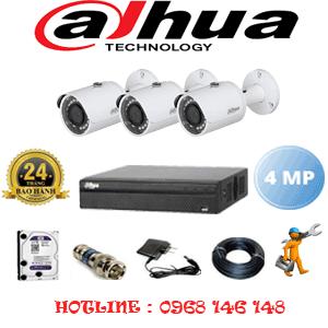 Lắp Đặt Trọn Bộ 3 Camera Dahua 4.0Mp (Dah-432400)-DAH-432400