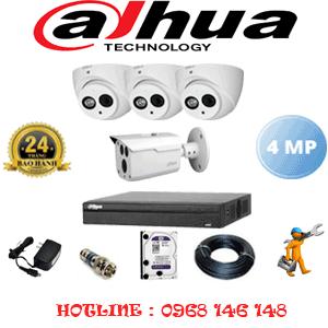 Lắp Đặt Trọn Bộ 4 Camera Dahua 4.0Mp (Dah-4325126)-DAH-4325126