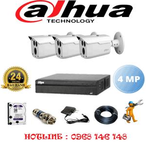 Lắp Đặt Trọn Bộ 3 Camera Dahua 4.0Mp (Dah-432600)-DAH-432600