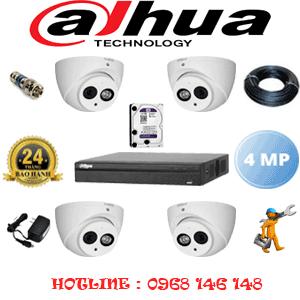 Lắp Đặt Trọn Bộ 4 Camera Dahua 4.0Mp (Dah-442500)-DAH-442500