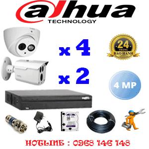 Lắp Đặt Trọn Bộ 6 Camera Dahua 4.0Mp (Dah-4425226)-DAH-4425226