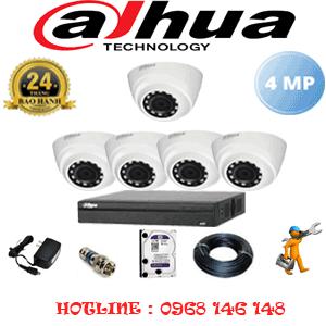 Lắp Đặt Trọn Bộ 5 Camera Dahua 4.0Mp (Dah-452300)-DAH-452300