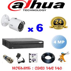 Lắp Đặt Trọn Bộ 6 Camera Dahua 4.0Mp (Dah-462400)-DAH-462400