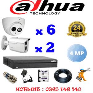 Lắp Đặt Trọn Bộ 8 Camera Dahua 4.0Mp (Dah-4625226)-DAH-4625226