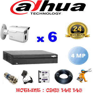 Lắp Đặt Trọn Bộ 6 Camera Dahua 4.0Mp (Dah-462600)-DAH-462600