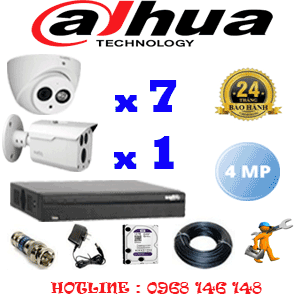 Lắp Đặt Trọn Bộ 8 Camera Dahua 4.0Mp (Dah-4725126)-DAH-4725126