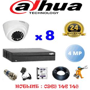 Lắp Đặt Trọn Bộ 8 Camera Dahua 4.0Mp (Dah-482300)-DAH-482300