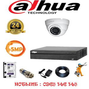 Lắp Đặt Trọn Bộ 1 Camera Dahua 5.0Mp (Dah-511500)-DAH-511500