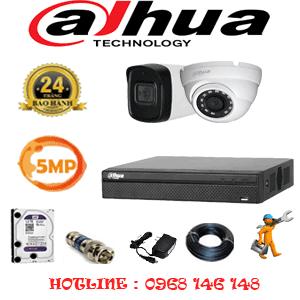 Lắp Đặt Trọn Bộ 2 Camera Dahua 5.0Mp (Dah-5115116)-DAH-5115116
