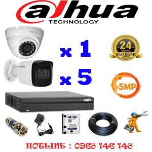 Lắp Đặt Trọn Bộ 6 Camera Dahua 5.0Mp (Dah-5115516)-DAH-5115516