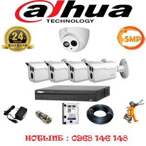 Lắp Đặt Trọn Bộ 5 Camera Dahua 5.0Mp (Dah-5129430)-DAH-5129430