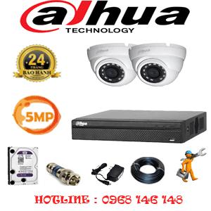Lắp Đặt Trọn Bộ 2 Camera Dahua 5.0Mp (Dah-521500)-DAH-521500