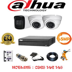 Lắp Đặt Trọn Bộ 3 Camera Dahua 5.0Mp (Dah-5215116)-DAH-5215116