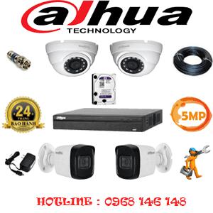 Lắp Đặt Trọn Bộ 4 Camera Dahua 5.0Mp (Dah-5215216)-DAH-5215216
