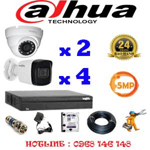Lắp Đặt Trọn Bộ 6 Camera Dahua 5.0Mp (Dah-5215416)-DAH-5215416