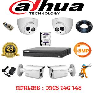 Lắp Đặt Trọn Bộ 4 Camera Dahua 5.0Mp (Dah-5229230)-DAH-5229230
