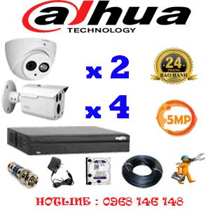 Lắp Đặt Trọn Bộ 6 Camera Dahua 5.0Mp (Dah-5229430)-DAH-5229430