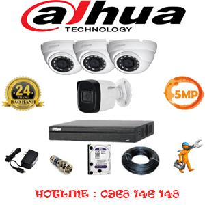 Lắp Đặt Trọn Bộ 4 Camera Dahua 5.0Mp (Dah-5315116)-DAH-5315116