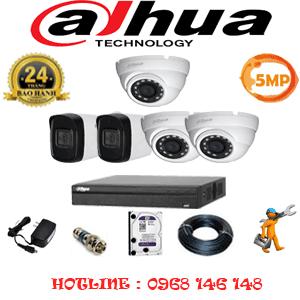 Lắp Đặt Trọn Bộ 5 Camera Dahua 5.0Mp (Dah-5315216)-DAH-5315216