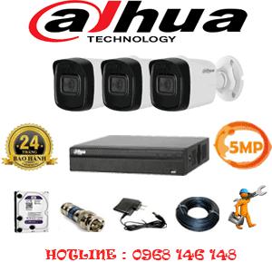 Lắp Đặt Trọn Bộ 3 Camera Dahua 5.0Mp (Dah-531600)-DAH-531600