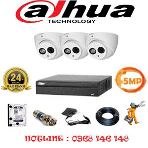 Lắp Đặt Trọn Bộ 3 Camera Dahua 5.0Mp (Dah-532900)-DAH-532900