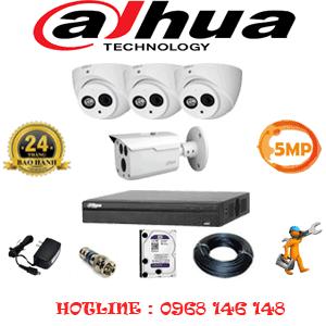 Lắp Đặt Trọn Bộ 4 Camera Dahua 5.0Mp (Dah-5329130)-DAH-5329130