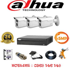 Lắp Đặt Trọn Bộ 3 Camera Dahua 5.0Mp (Dah-533000)-DAH-533000