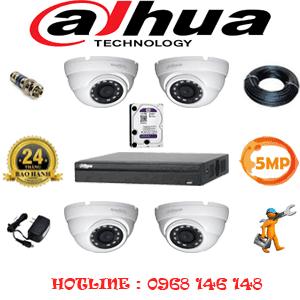 Lắp Đặt Trọn Bộ 4 Camera Dahua 5.0Mp (Dah-541500)-DAH-541500
