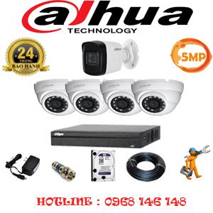 Lắp Đặt Trọn Bộ 5 Camera Dahua 5.0Mp (Dah-5415116)-DAH-5415116