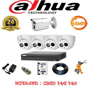 Lắp Đặt Trọn Bộ 5 Camera Dahua 5.0Mp (Dah-5429130)-DAH-5429130