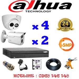 Lắp Đặt Trọn Bộ 6 Camera Dahua 5.0Mp (Dah-5429230)-DAH-5429230