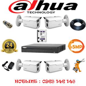 Lắp Đặt Trọn Bộ 4 Camera Dahua 5.0Mp (Dah-543000)-DAH-543000