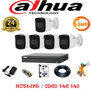Lắp Đặt Trọn Bộ 5 Camera Dahua 5.0Mp (Dah-551600)-DAH-551600